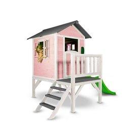 Sunny  speelhuisjes Speelhuis Lodge XL (roze-wit), Merk Sunny