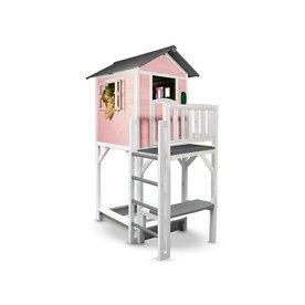 Sunny  speelhuisjes Speelhuis Lodge XXL Plus (roze/wit)