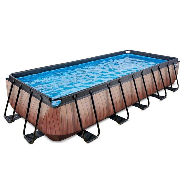 EXIT zwembad Wood 540x250cm zonder pomp en trap - bruin