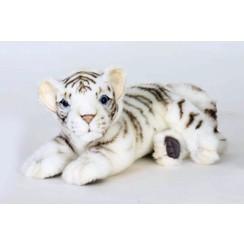 Witte Tijger Knuffel liggend , 26 cm, Hansa