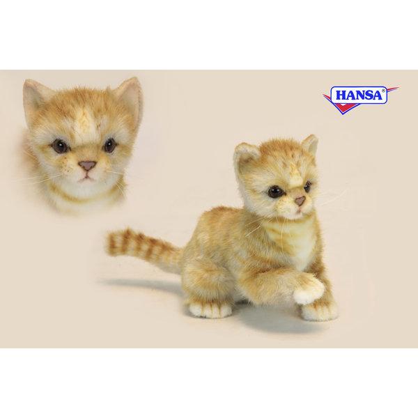 Hansa Knuffel Kitten rood, Hansa