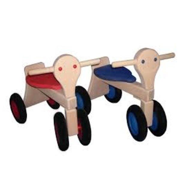 Van Dijk Toys Loopfiets Classic Roze, Lichtblauw, Oranje, van DIjk Toys
