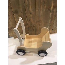 Van Dijk Toys Houten Poppenwagen Combi