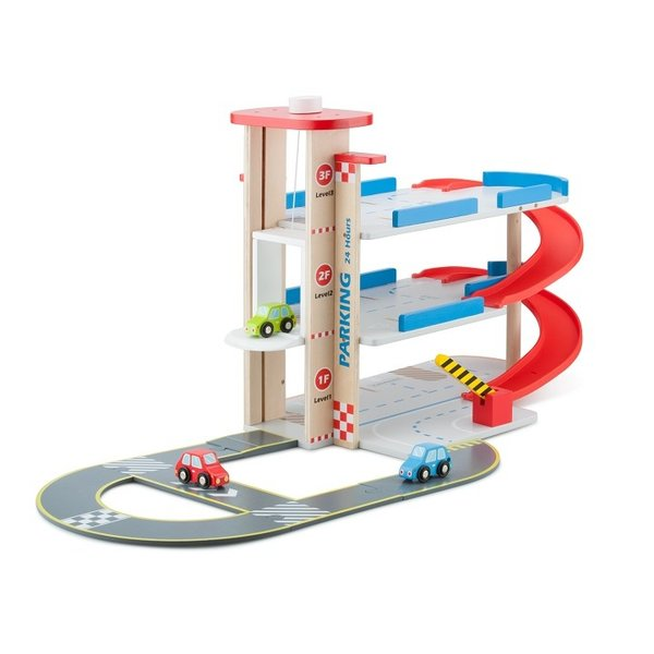 New Classic Toys new classic toys - parkeergarage met autobaan en 3 auto's