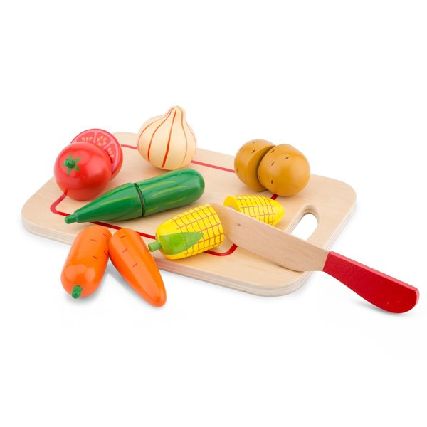 New Classic Toys new classic toys - snijset - groenten op snijplank - 8 stuks