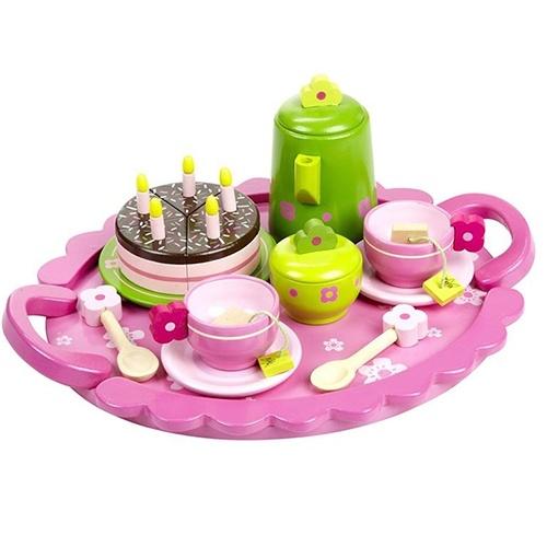 Speelgoedserviesjes van hout, porcelein of tin, grote keuze
