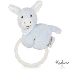 Kaloo Les Amis Baby - Ezel met bijtring blauw