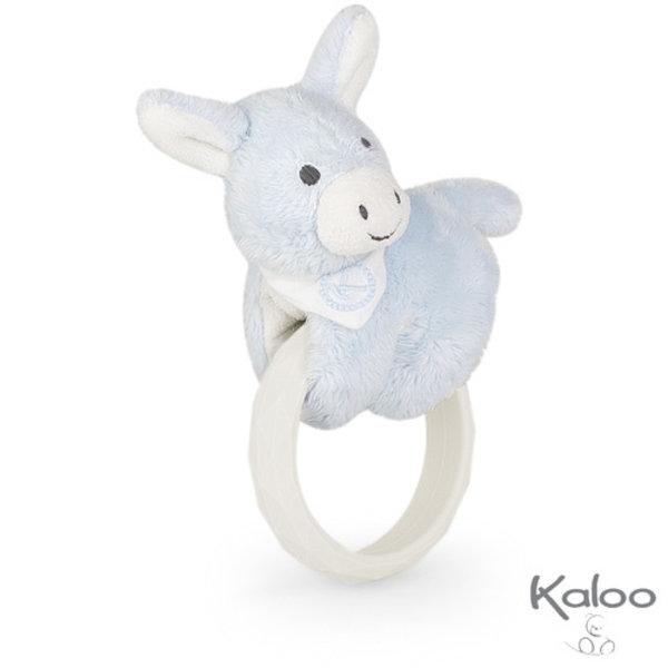 Kaloo Les Amis Kaloo Les Amis Baby - Ezel met bijtring blauw