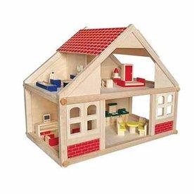 Playwood Poppenhuis schroef groot; incl meubels