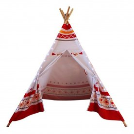 Sunny Sunny LED Tipi Tent Rood/wit