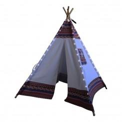 Sunny LED Tipi Tent Multikleur/wit