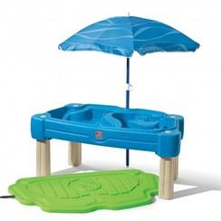 Zand-watertafel Cascading Cove met parasol