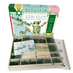 Join Clips, 1 houten kist 400 clips + 80 houten plankjes