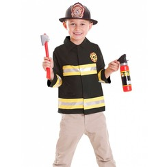 Brandweer verkleedset 4 delig