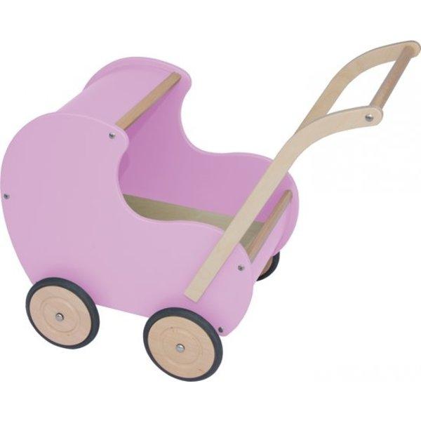 van Dijk Toys  Poppenwagen Retro 50 Cm Lichtroze, van Dijk Toys