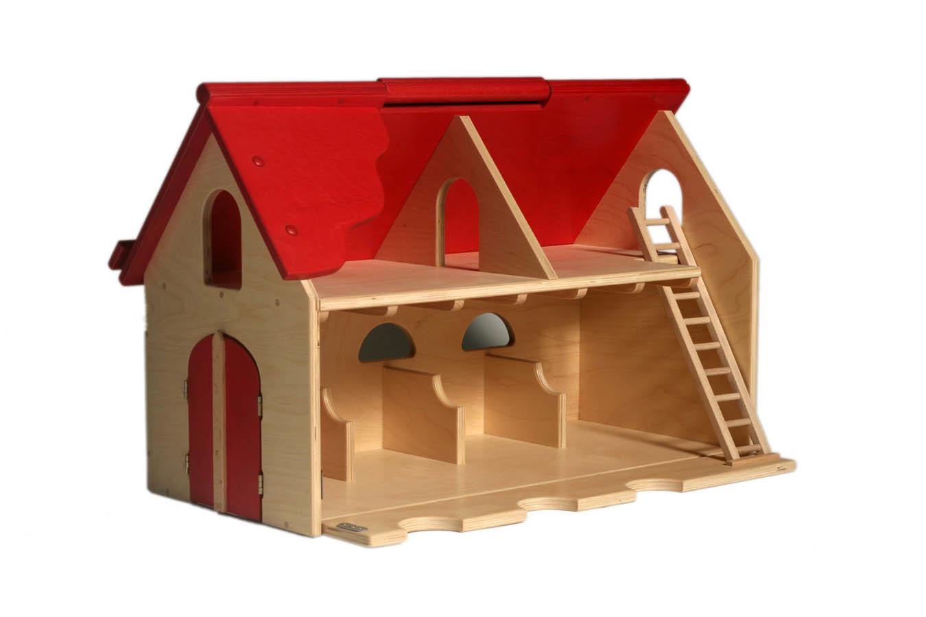 De houten speelgoedboerderij van Van Dijk Toys zorgt gegarandeerd voor uren lang speelpleizer