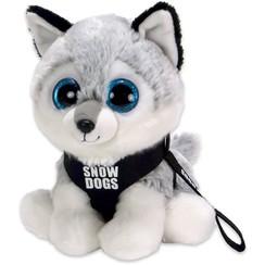 Pluche Husky, Snowdog,  met grote ogen