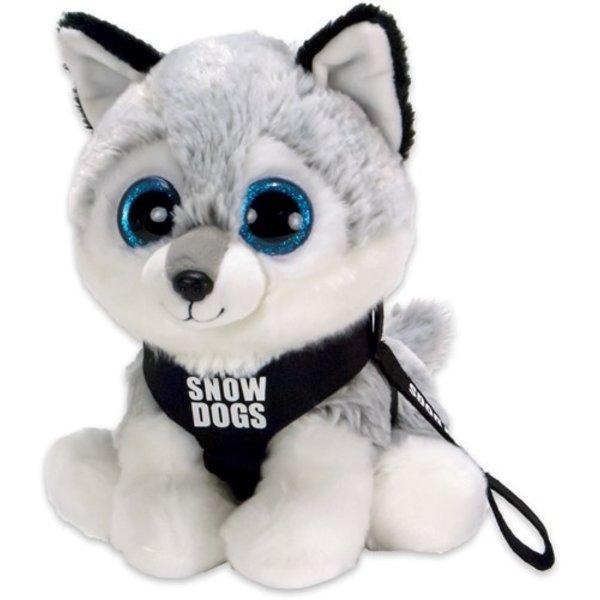 Dinotoys Pluche Husky, Snowdog,  met grote ogen