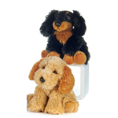 Knuffel Hond Lichtbruin