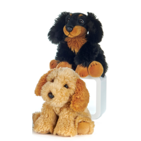 Paws-Dinotoys Knuffel Hond Lichtbruin