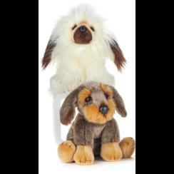 Knuffel Hond 2-kleuren bruin