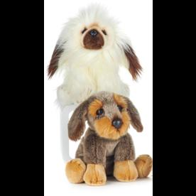 Paws-Dinotoys Knuffel Hond 2-kleuren bruin