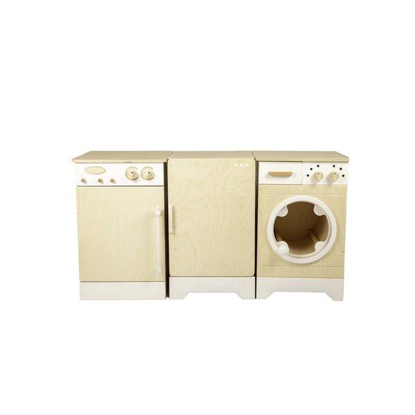 van Dijk Toys Koelkast, Vaatwasmachine en Wasmachine Whitewash, van Dijk Toys