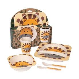Living Animals Bamboo Diner set Leeuw