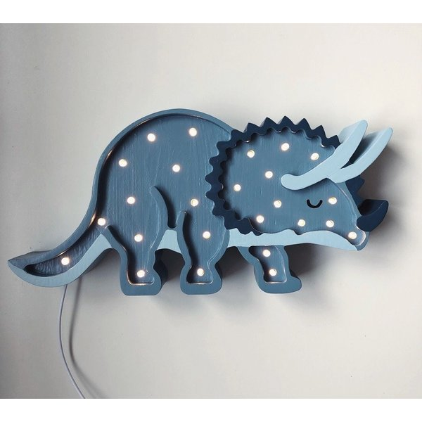 Little Lights Little Lights lamp Dinosaurius Triceratops - Blauw