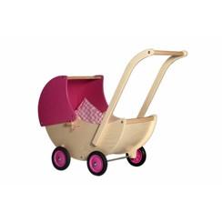 Houten Poppenwagen Roze, van Dijk Toys