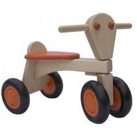 Van Dijk Toys Houten Loopfiets Beuken Oranje