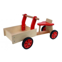 Kinderbakfiets hout Rood