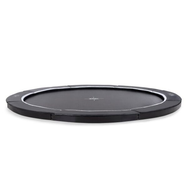 exit EXIT Supreme groundlevel trampoline ø427cm - zwart
