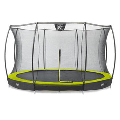 EXIT Silhouette inground trampoline ø427cm met net