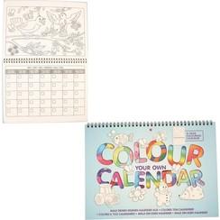 Kleur je eigen Kalender Kleurboek