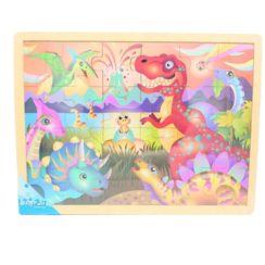 Simply for Kids - Houten Puzzel Dinosaurus