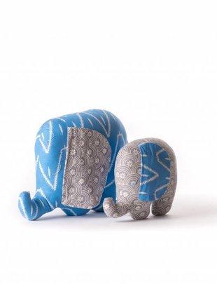 Duduk olifant knuffel batik stof