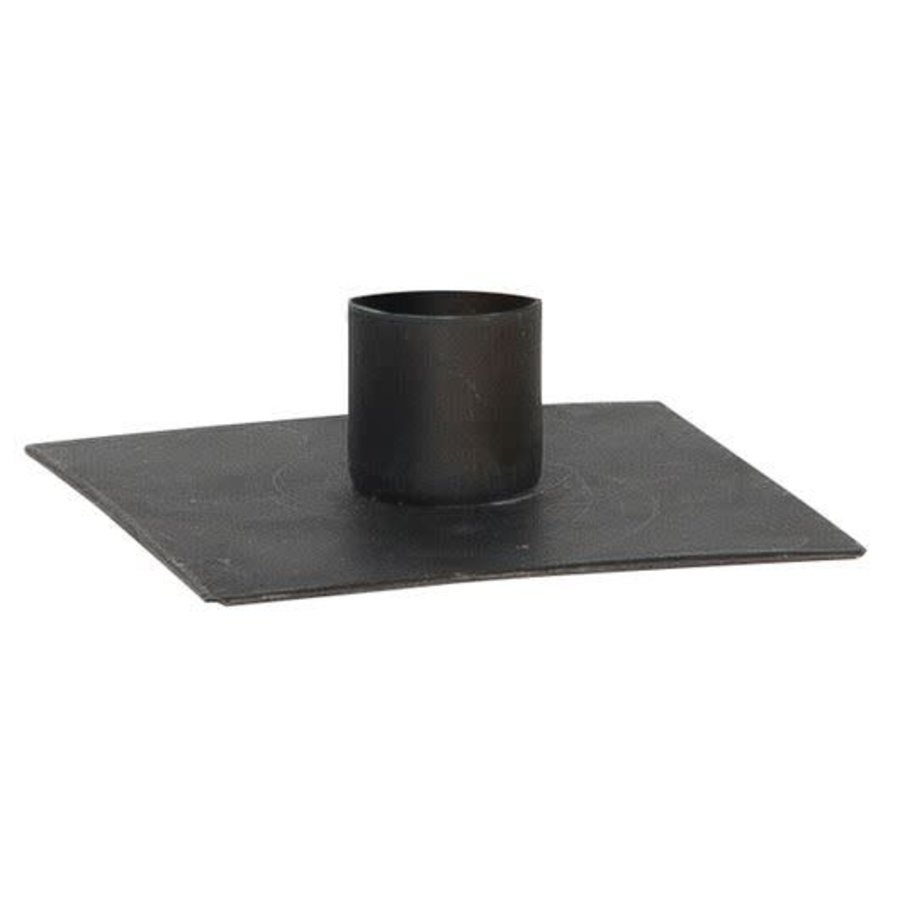 Candle holder square black-1