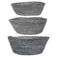 Basket set of 3 grey