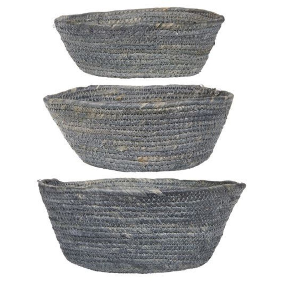 Basket set of 3 grey-1