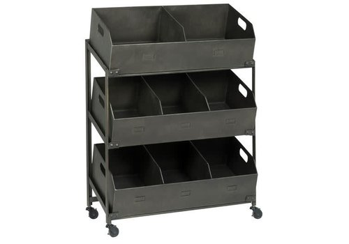 Bookcase w/8 rooms and wheels