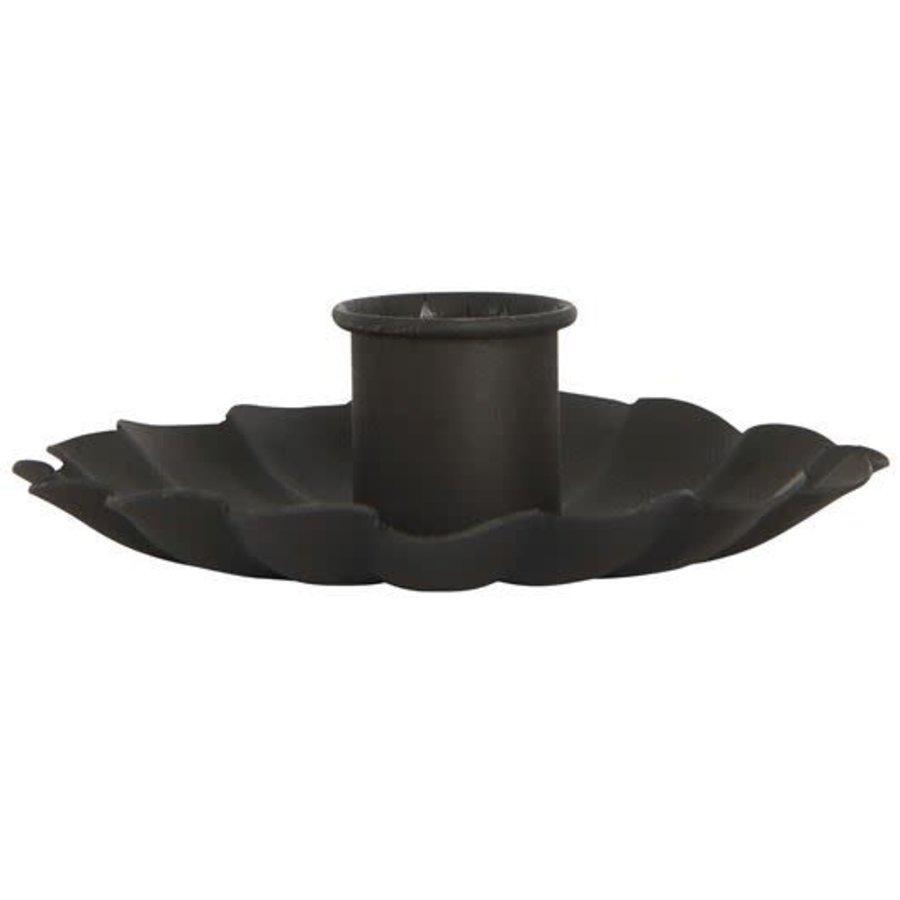Candle holder flower black-1