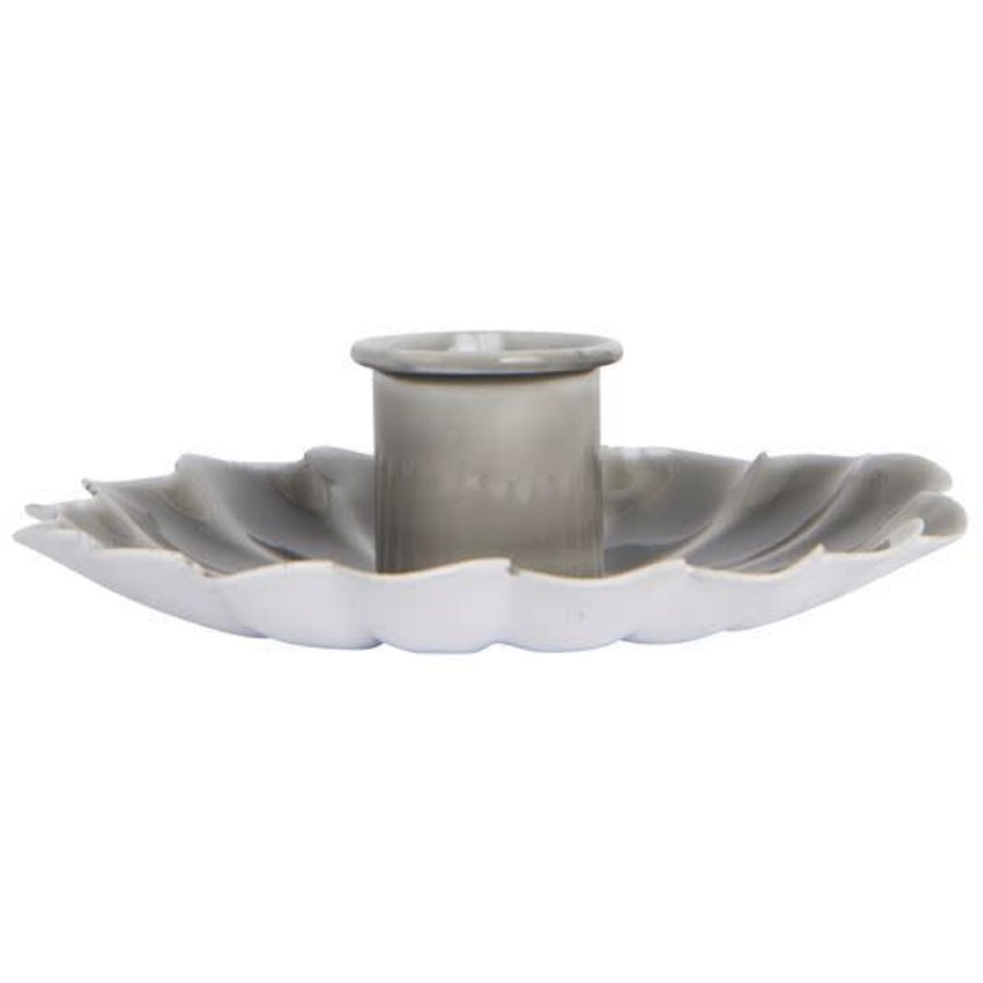 Candle holder flower grey-1