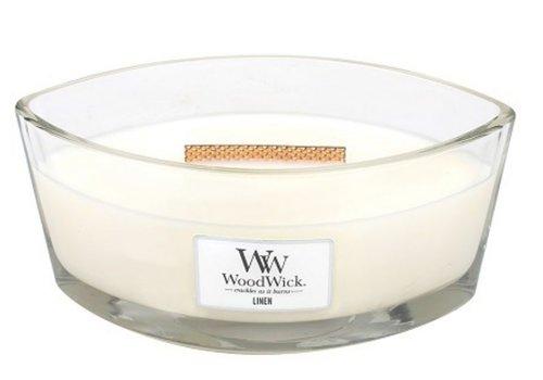 WOODWICK Linen Ellipse WoodWick HeartWick Candle