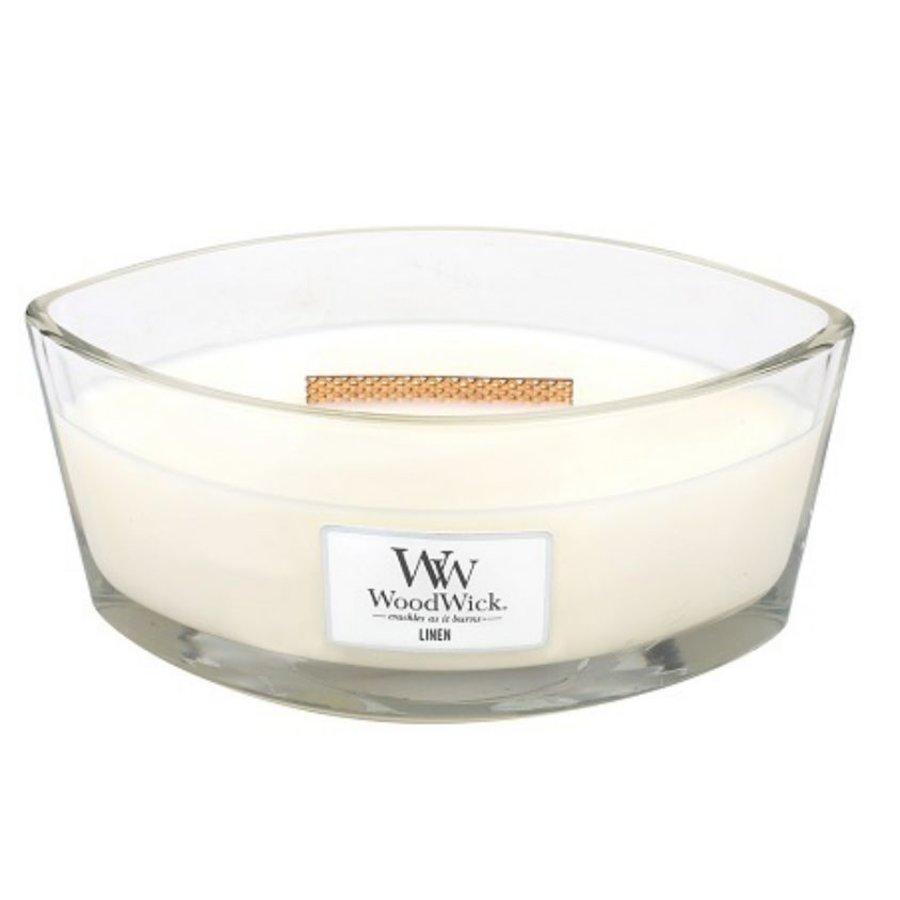 Linen Ellipse WoodWick HeartWick Candle-1