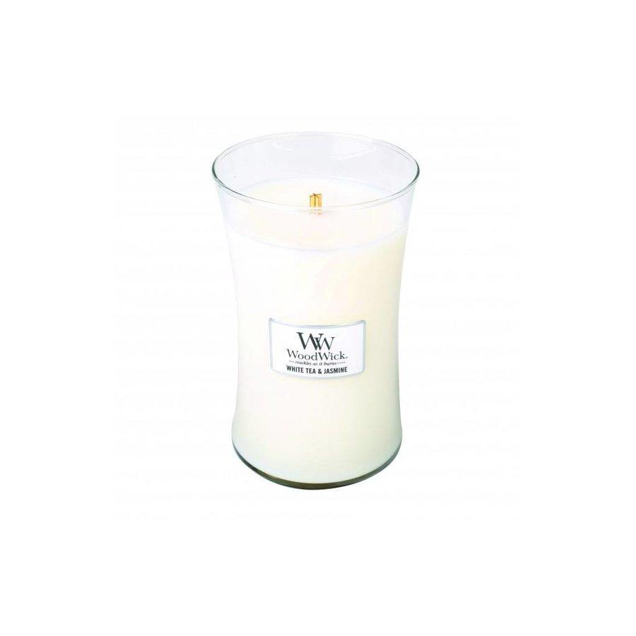 White Tea & Jasmine Large WoodWick Candle-1