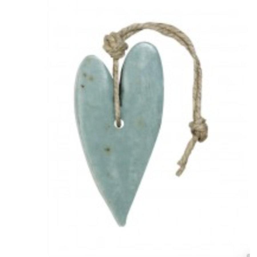 Hart XL blauw/grijs met oregano parfum olijf 100 gram-1