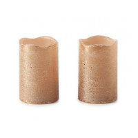 Classic LED Candle bronze 2pcs