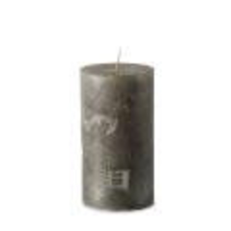 Rustic Candle Antique Silver 7x13-1