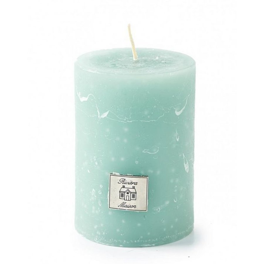 Rustic Candle Olive Green 7x10-1